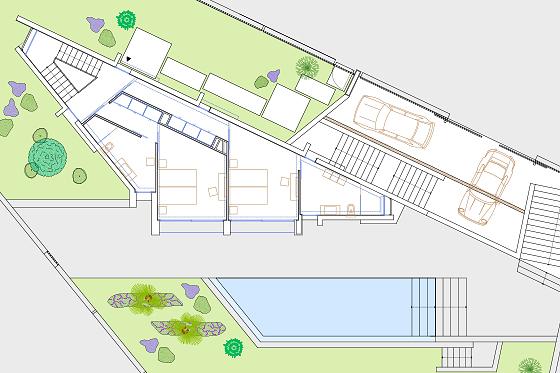 MALLORCA DESIGN VILLA - Grundriss Erdgeschoss