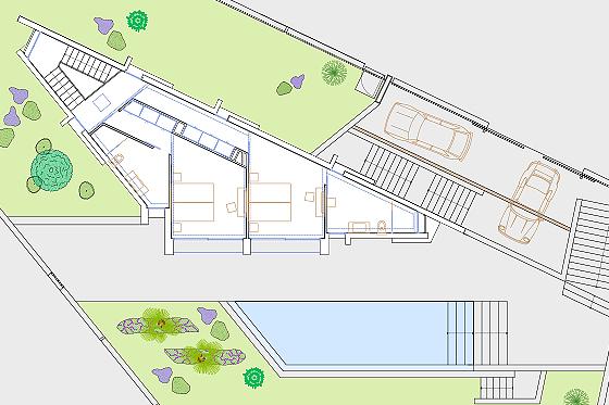 MALLORCA DESIGN VILLA - Grundriss Obergeschoss