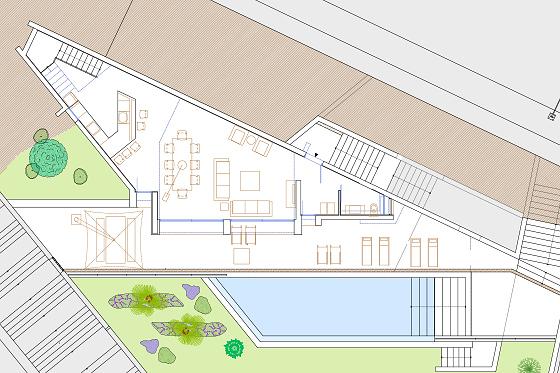 MALLORCA DESIGN VILLA - Grundriss Poolgeschoss